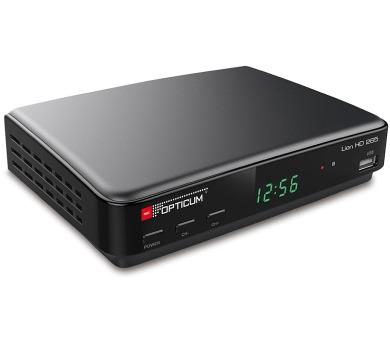 OPTICUM DVB-T2 přijímač Lion HD 265 PLUS/ Full HD/ MPEG 1/2/4/ H.265/HEVC/ PVR/ HDMI/ USB/ SCART/ černý