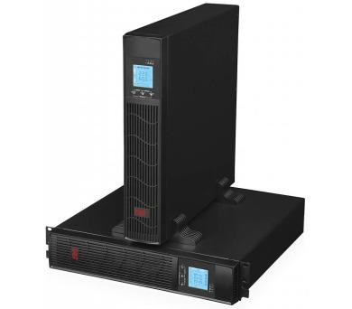 EUROCASE záložní zdroj EA620RT 2000VA / 2000VA / USB / RJ45 / LCD Displej / Pure sine way + DOPRAVA ZDARMA