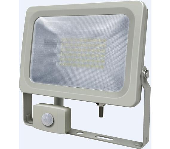 IMMAX LED reflektor Venus/ 30W/ 2550lm/ IP54/ 4000 – 4500K přírodní bílá/ PIR/ šedý + DOPRAVA ZDARMA