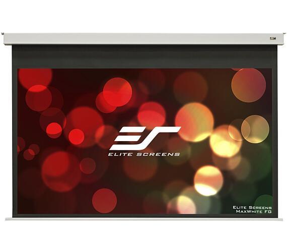 """ELITE SCREENS plátno elektrické motorové stropní 100"""" (254 cm)/ 16:9/ 124,5 x 221,4 cm/ Gain 1,1/ 12"""" drop + DOPRAVA ZDARMA"""