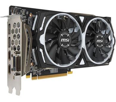 MSI Radeon RX 580 ARMOR 8G OC / PCI-E / 8GB / 2x HDMI / DL-DVI-D / 2xDP / active