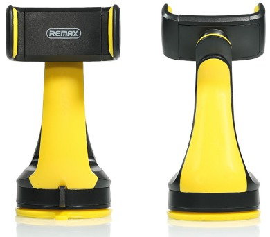 """REMAX držák telefonu do auta / RM-C15 / na palubní desku / podpora až 6"""" / černo-žlutý (RM-C15 black+yellow)"""