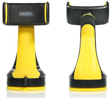 """REMAX držák telefonu do auta / RM-C15 / na palubní desku / podpora až 6"""" / černo-žlutý"""