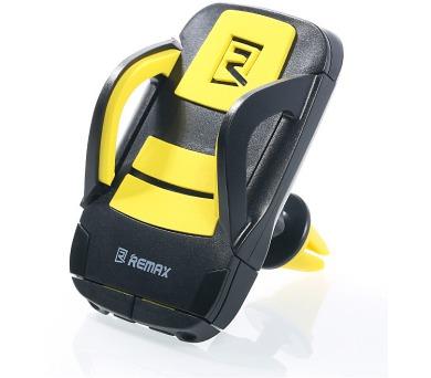 """REMAX držák telefonu do auta / RM-C13 / podpora 3,5"""" - 5,5"""" / do ventilační mřížky / černo-žlutý"""