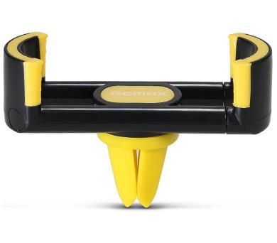 REMAX držák telefonu do auta / RM-C17 / do ventilační mřížky / podpora 55 - 85mm / černo-žlutý