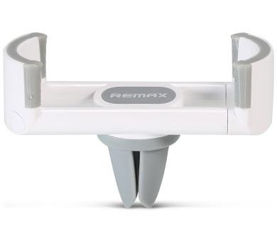 REMAX držák telefonu do auta / RM-C17 / do ventilační mřížky / podpora 55 - 85mm / bílo-šedý