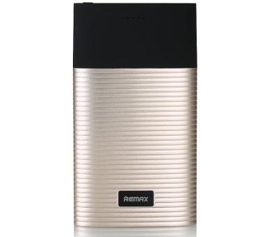 REMAX power banka 10000mAh / RPP-27 / výstup 2x USB 2.0 typ A samice / zlatá