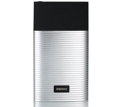REMAX power banka 10000mAh / RPP-27 / výstup 2x USB 2.0 typ A samice / stříbrná