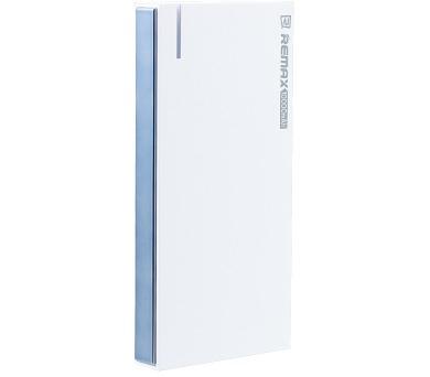 REMAX power banka 10000mAh / RPP-58 / výstup 2x USB 2.0 typ A samice / podpora microSD (max. 128gb) / bílo-šedá
