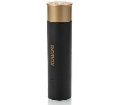 REMAX power banka 2500mAh / RPL-18 / design nábojnice / výstup 1x USB 2.0 typ A samice / černá