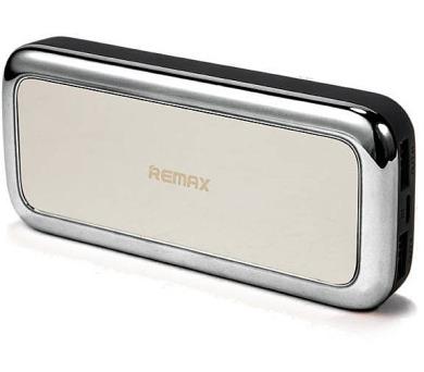 REMAX power banka 10000mAh / RPP-36 / výstup 2x USB 2.0 typ A samice / stříbrná
