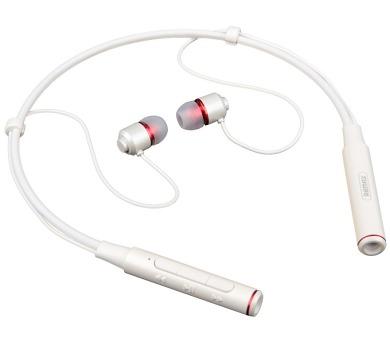 REMAX sluchátka sportovní za krk RB-S6 / bezdrátová / BT / pohotovostní doba max. 320h / notifikace / bílá (RB-26 white)