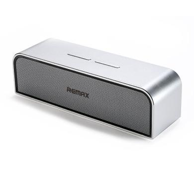 REMAX přenosné repro M8 / Bluetooth / kovové tělo / stříbrný