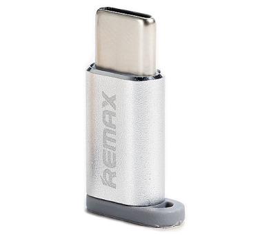 REMAX redukce z microUSB na USB typ C / stříbrná