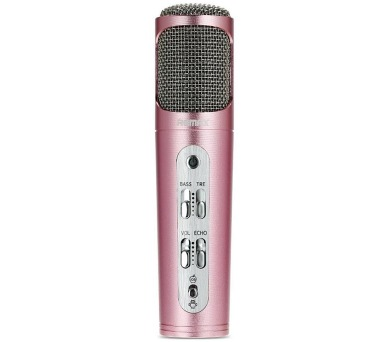 REMAX mikrofon / RM-K02 / 440mAh baterie / pro Android i iOS / provoz až 6-8 hod. / růžovo-zlatý (RM-K02 rose gold)