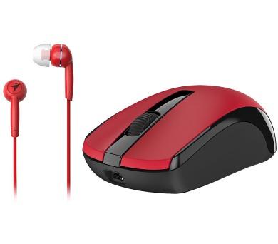GENIUS MH-8100 bezdrátová dobíjecí myš + HEADSET ZDARMA/ červená