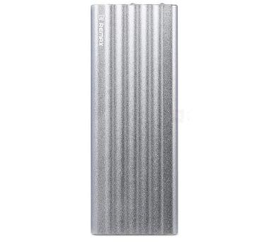 REMAX power banka 20000mAh / Vanguard series / výstup 2x USB 2.0 typ A samice / stříbrná