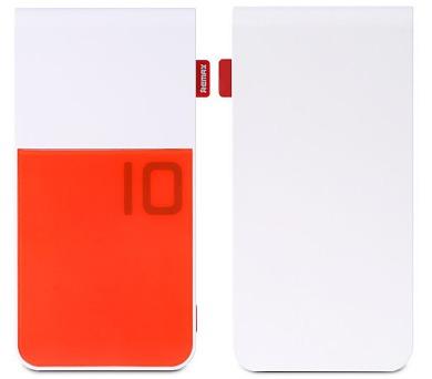 REMAX power banka 10000mAh / Colorful series / výstup 2x USB 2.0 typ A samice / červená