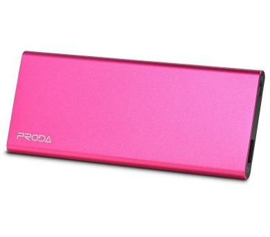 REMAX power banka 8000mAh / Vanguard series / výstup 1x USB 2.0 typ A samice / růžová