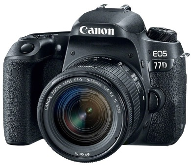 "Canon EOS 77D/ 24 MPix/ 3"" LCD/ Zrcadlovka/ Full HD video + 18-55 IS STM"