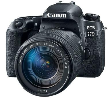 "Canon EOS 77D/ 24 MPix/ 3"" LCD/ Zrcadlovka/ Full HD video + 18-135 IS USM"
