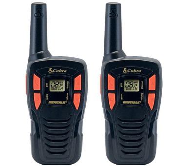 COBRA vysílačky AM245/ profi PMR/ 2ks/ 6x nabíjecí baterie AA/ 8 kanálů/ dosah 5km/ černo-oranžové + DOPRAVA ZDARMA