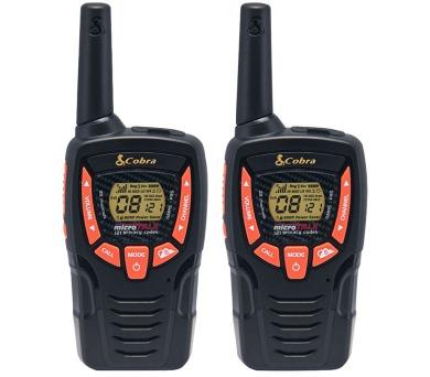 COBRA vysílačky AM645/ profi PMR/ 2ks/ 6x nabíjecí baterie AA/ 8 kanálů/ dosah 8km/ černo-oranžové + DOPRAVA ZDARMA