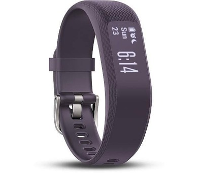 GARMIN fitness náramek vivoSmart3 Optic/ LCD 19,2 x 9,6 mm/ Bluetooth/ ANT+/ iOS/ Android/ Windows/ (vel. L)/ purpurová