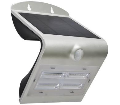 IMMAX venkovní solární LED osvětlení s čidlem/ 3,2W/ 4000-4500K/ IP65/ stříbrné + DOPRAVA ZDARMA
