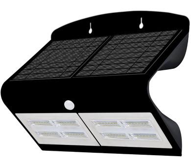 IMMAX venkovní solární LED osvětlení s čidlem/ 6,8W/ 4000-4500K/ 750lm/ IP65/ černé (08430L)