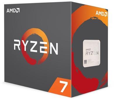 AMD Ryzen 7 1700 / Ryzen / LGA AM4 / max. 3,7 GHz / 8C/16T / 20MB / 65W TDP / BOX with Wraith Spire 95W