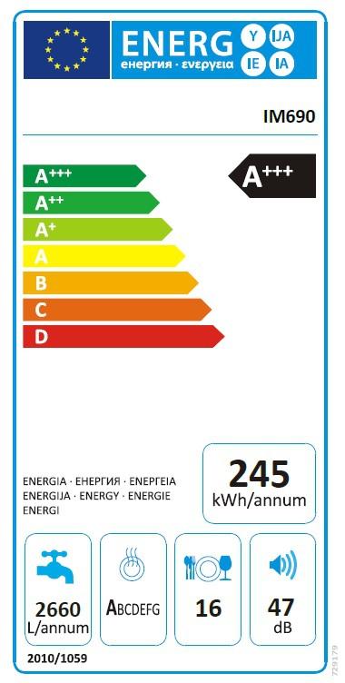 Energetický štítek MORA IM 690