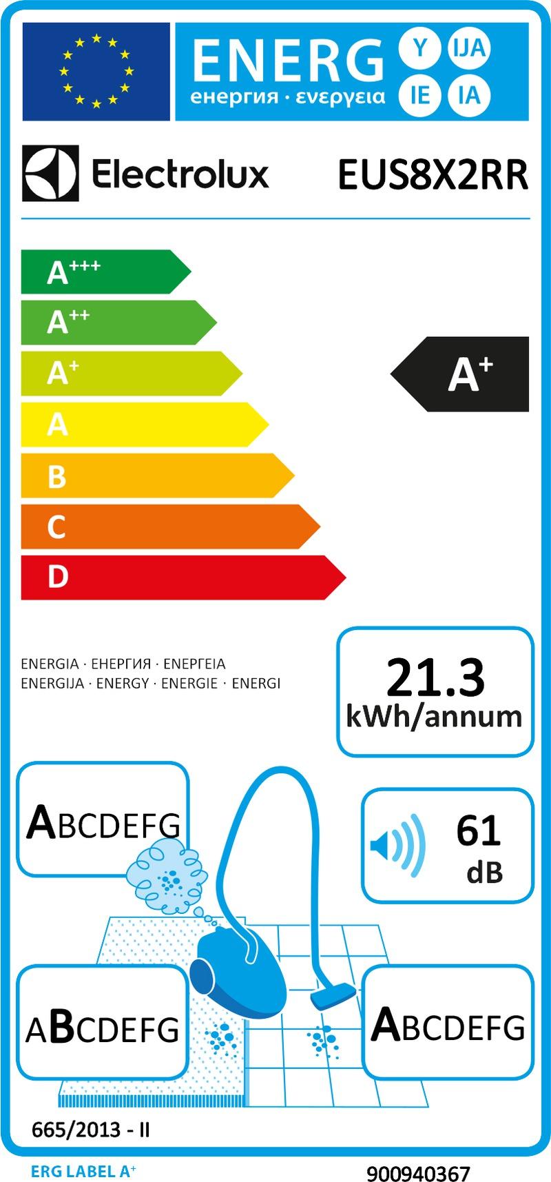 Energetický štítek Electrolux EUS8X2RR
