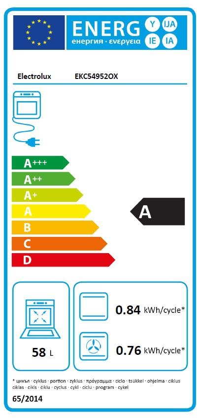 Energetický štítek Electrolux EKC54952OX