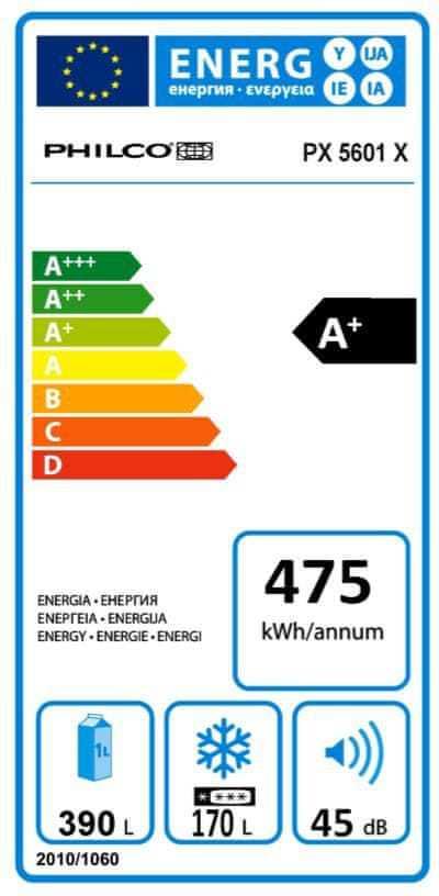 Energetický štítek Philco PX 5601 X Side by Side