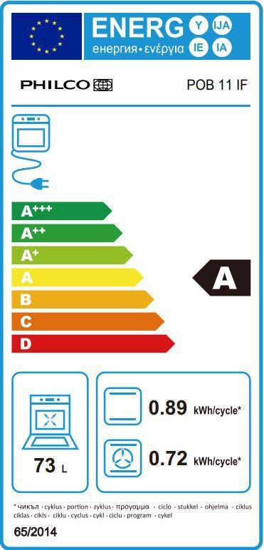 Energetický štítek Philco POB 11 IF