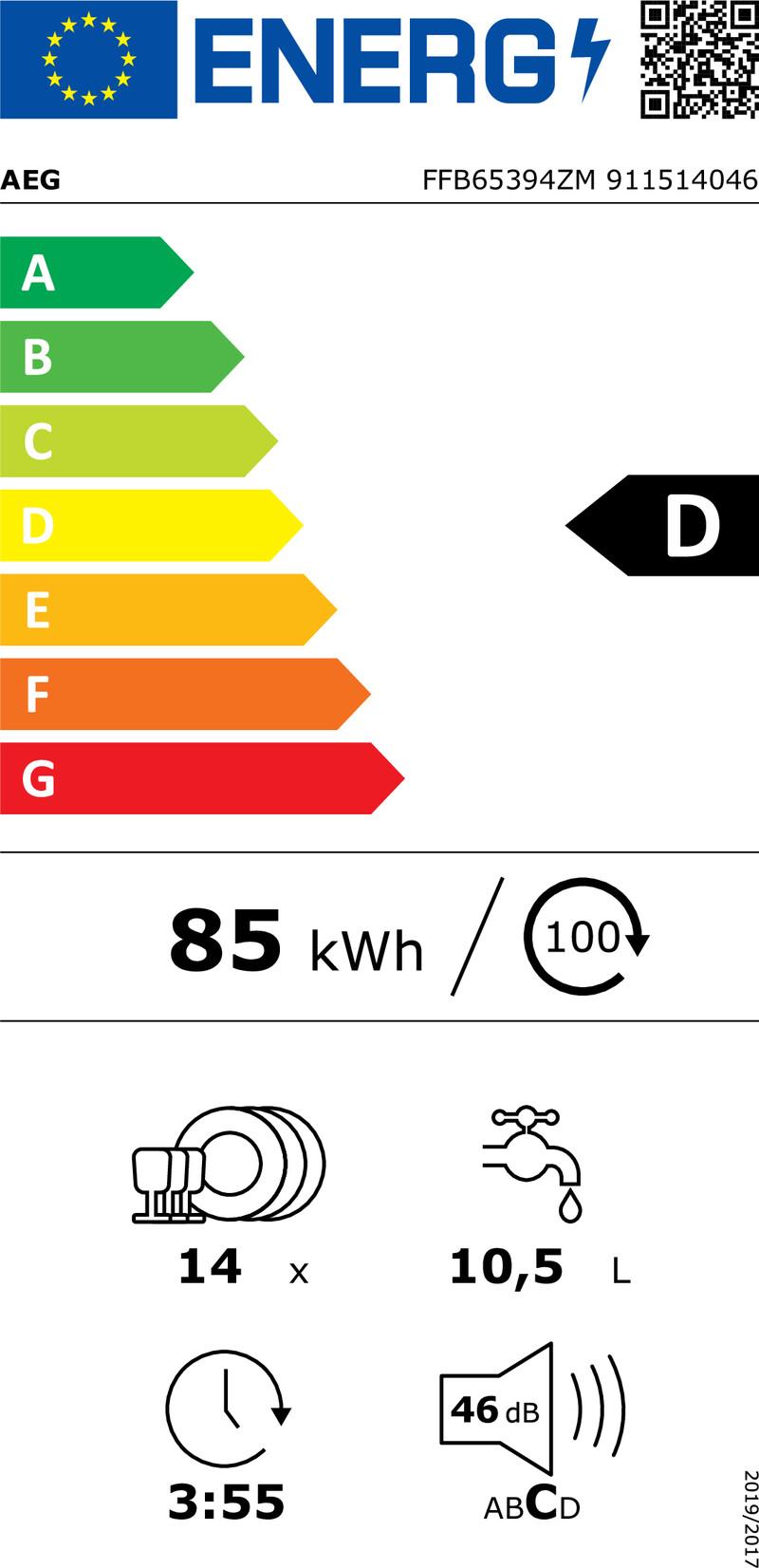 Energetický štítek AEG Mastery FFB65394ZM