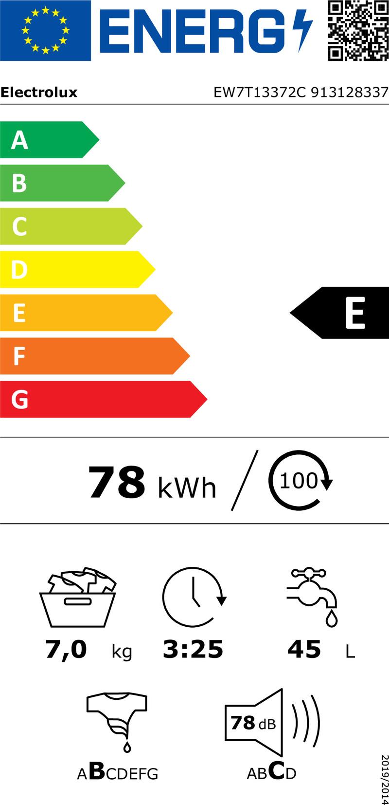 Energetický štítek Electrolux EW7T13372C