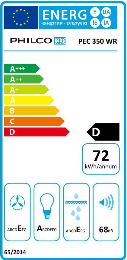 Energetický štítek Philco PEC 350 WR