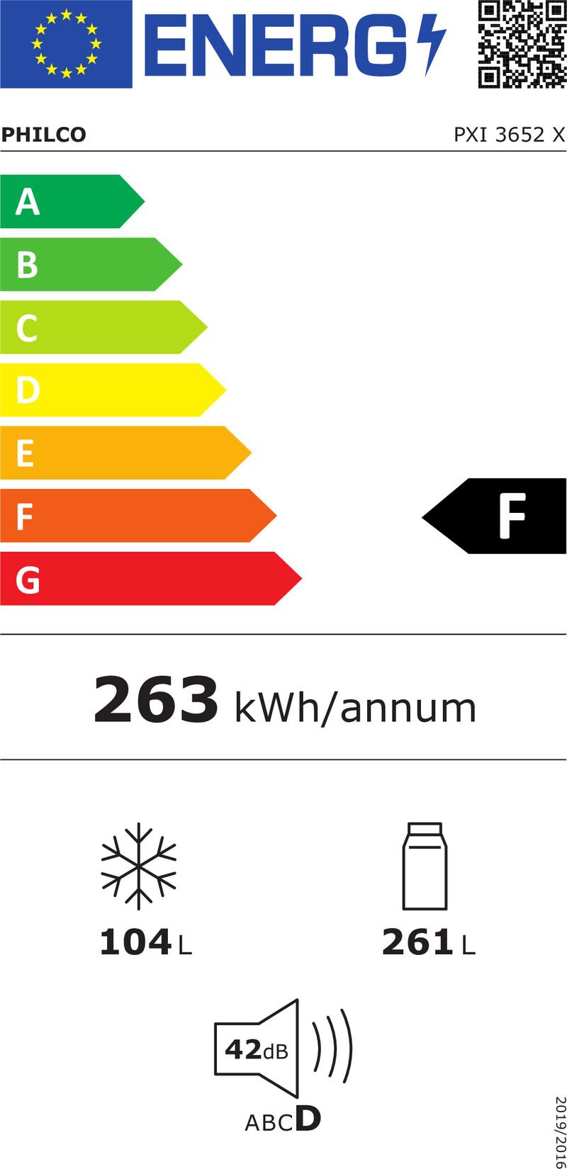 Energetický štítek Philco PXI 3652 X SBS