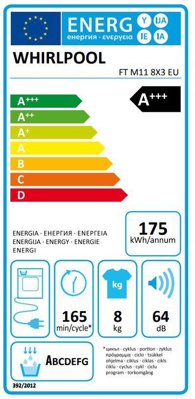 Energetický štítek Whirlpool FT M11 8X3 EU FreshCare