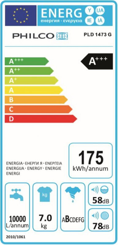 Energetický štítek Philco PLD 1473 G