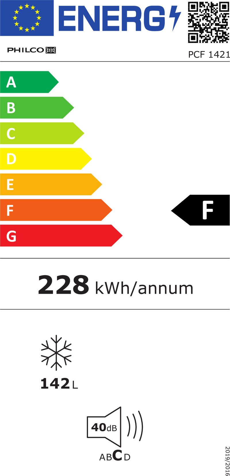 Energetický štítek Philco PCF 1421