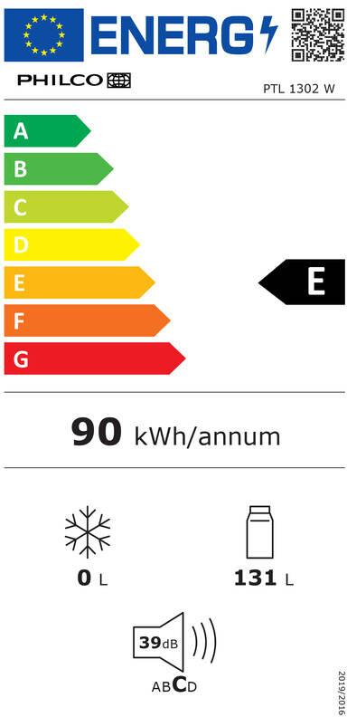 Energetický štítek Philco PTL 1302 W