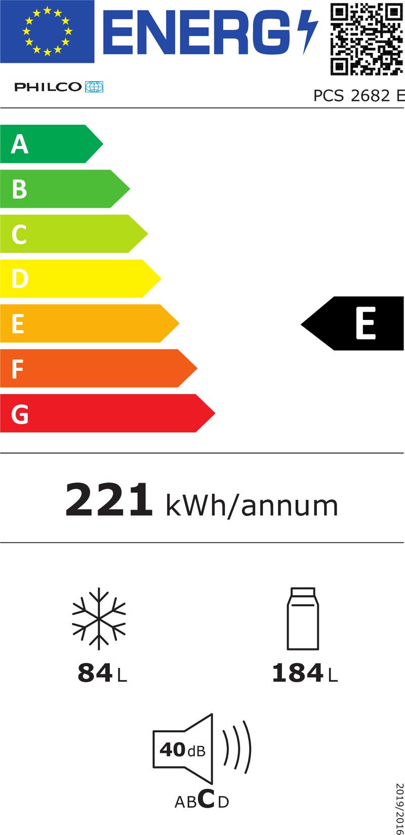Energetický štítek Philco PCS 2682 E
