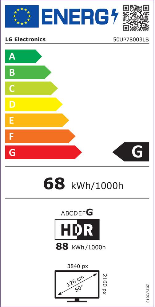 Energetický štítek LG 50UP7800