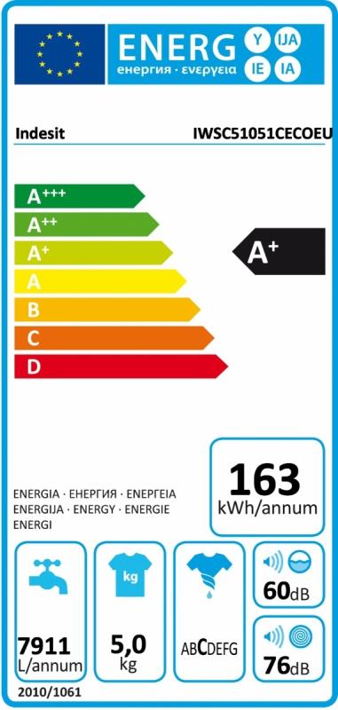 Energetický štítek Indesit IWSC 51051 C ECO EU