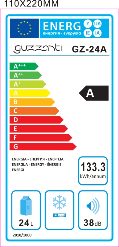 Energetický štítek Guzzanti GZ 24A