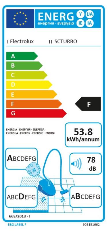 Energetický štítek Electrolux SCTURBO
