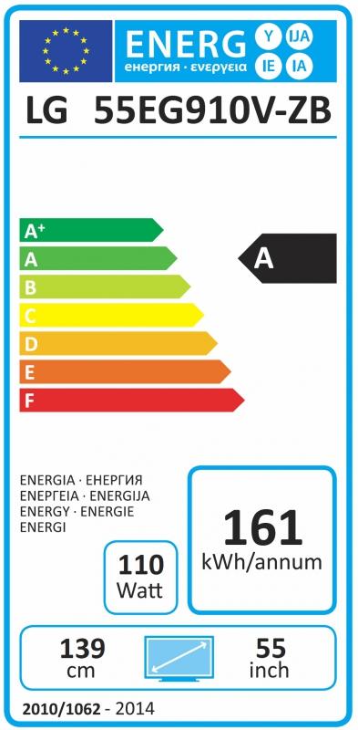Energetický štítek LG 55EG910V